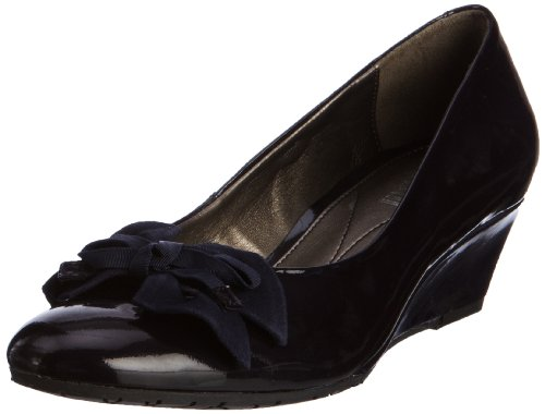 Van Dal Women's Lille Patent Navy Pat/Sde Closed Toe 1391450 7 UK