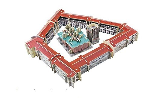 Totoer®Rila Monastery 3D Jigsaw Puzzle Woodcraft Kit Wooden Toy Puzzle Model - 1