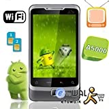 Android 2.2 4G A5000 Goolge GSensor Touch WIFI GPS+Dual Sim+Quadband TV JAV ....