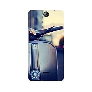 Ebby Vespa Silver Premium Printed Case For Micromax Canvas Juice 3 Q392