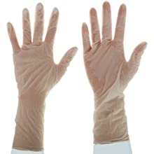 "Ansell Nitrilite 93-401 Nitrile Glove, Powder Free, Rolled Beaded Cuff, 12"" Length, 5 mils Thick"