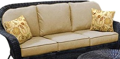 Chicago Wicker & Trading D-CUSH32803S-F510-P105-W 6-Piece South Shore Collection Heather Deep Seating 3-Seat Sofa Cushion, Beige (Discontinued by Manufacturer) picture