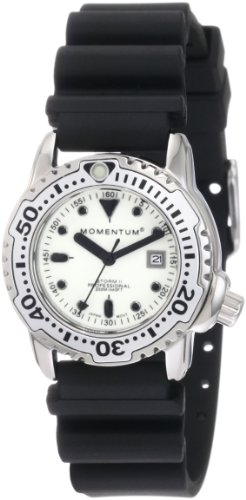 Momentum Ladies 1M-DV83W1B Storm II White Dial Hyper Natural Rubber Watch