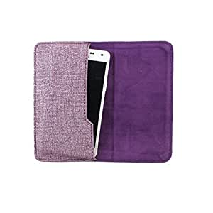 DooDa PU Leather Pouch Case Cover With Card / ID Slots For Micromax A68 Smarty