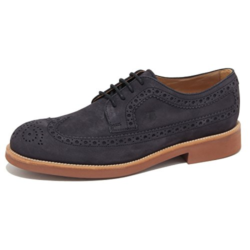 7154N scarpa TOD'S DERBY blu scarpe uomo shoes men [10]