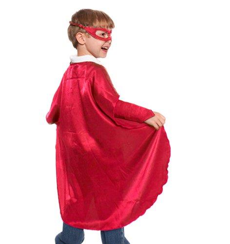 Red Polyester Satin Superhero Cape - Kids