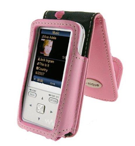 i-nique Tuff-Luv Exec Soft Napa Leather Case For Sony Walkman - Pink (NWZ-S515 / NWZ-S615 series)