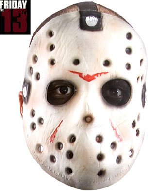 Rubie's Costume Co Friday The 13th Jason Voorhees Original Hockey Mask, Gray, One Size