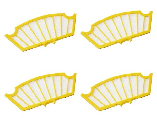 Cimc Llc New Roomba 500 Series Spare Filter 4-Pack Oem Original 530 550 560 570 580 53 front-624542