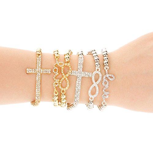 cnway love armband frau kreuz armband goldarmband dornschliese bangles glanzenden schmuck. Black Bedroom Furniture Sets. Home Design Ideas