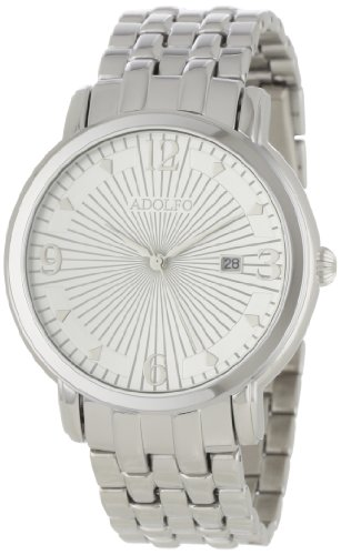 ADOLFO Men's 31023A Round Face Calendar Sun Dial Watch