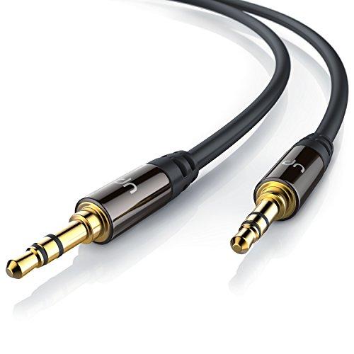 Uplink-05m-Audio-Klinkenkabel-Verbindungskabel-fr-AUX-Eingnge-Voll-Metallstecker-passgenau-35mm-Stecker-auf-35mm-Stecker-HQ-Premium-Series