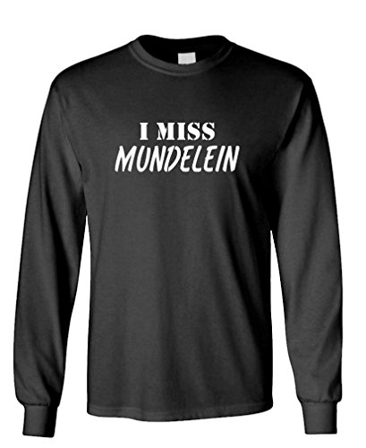 I MISS MUNDELEIN - FUNNY CITY STATE HOMETOWN - 100% Cotton Long Sleeved T-Shirt, 3XL, Black (Party City Mundelein)