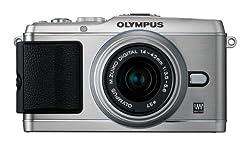 OLYMPUS マイクロ一眼 PEN E-P3 レンズキット シルバー E-P3 LKIT SLV