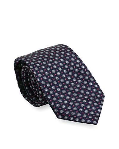 Brioni Men's Patterned Silk Tie, Blue