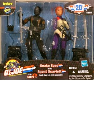 Buy Low Price Wizard Entertainment ToyFare Exclusive G.I. Joe Agent Scarlett & Snake Eyes Action Figures 2-Pack (B000E4AMN2)