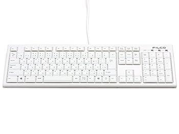 FILCO Excellio Lite 白2 日本語109配列 カナあり パンタグラフ式スリムキーボード 鉄板シャーシ採用 USB 印字色/グレー カラー/ホワイト FKBE109/JW2