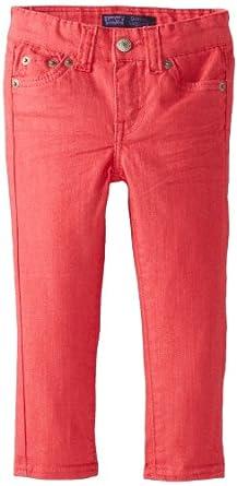 Levi's Little Girls' Daria Denim Legging, Strawberry, 2T