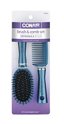 Best Cheap Deal for Conair Fusion Hair Brush and Comb, Cushion, Mid-Size, Colors May Vary from Conair - Free 2 Day Shipping Available