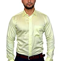 MSJ XIV Men's Premium Formal Shirt Lemon Yellow (44)