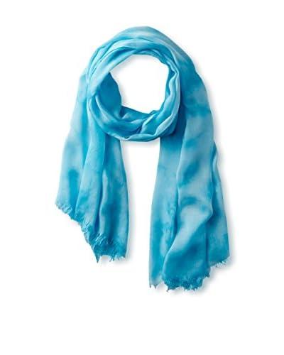 Elie Tahari Women's Tie Dye Printed Scarf, Blue