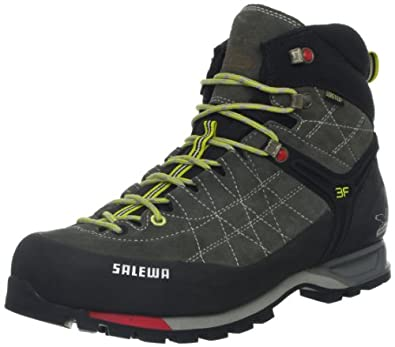 Salewa Mens MS MTN TRAINER MID GTX Trekking & Hiking Shoes Gray Grau (Charcoal/Limeade 802) Size: 40.5