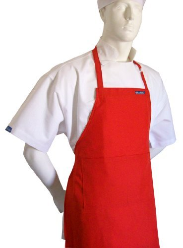 chefskin-adult-set-apron-hat-in-tomato-red-ultra-lightweight-cool-fresh-very-comfortable-center-pock