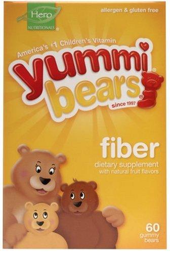 Yummi Bears Fiber, 60-Count Gummy Bears