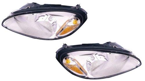 Chrysler PT Cruiser Replacement Headlight Assembly - 1-Pair (Headlight Assembly Pt Cruiser compare prices)