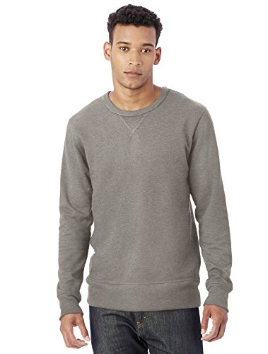 Alternative Men's Sport French Terry B-Side Reversible Crew Neck, Vintage Coal, XL (Alternative French Terry compare prices)