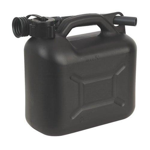 Sealey JC5B Fuel Can, 5 Liter, Black