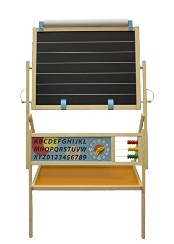 Little Partners My First Art Easel with Whiteboard and Chalkboard - Kids Educational Learning (Little Times First Slide compare prices)