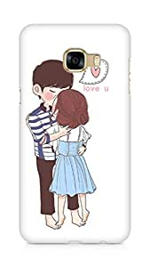 Amez designer printed 3d premium high quality back case cover for Samsung Galaxy C5 (Kissing Couple)