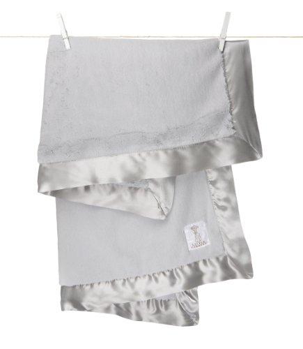 Little Giraffe Luxe Baby Blanket, Silver