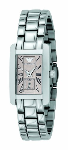 Emporio Armani Ladies Stainless Steel Bracelet Watch with Pink Champagne Dial