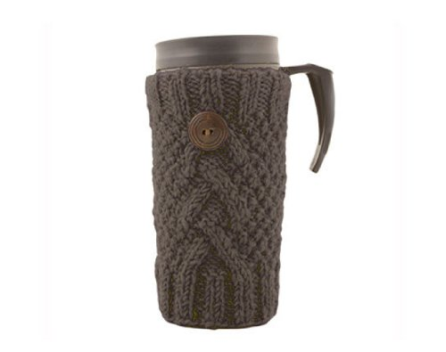Why Should You Buy Travel Cup Cozy - Fair Trade 100% Wool Terrific Quality (Grey)