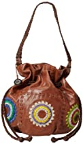 Hot Sale The SAK Indio Drawstring Shoulder Bag,Starburst,One Size