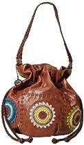 Hot Sale The SAK Indio Drawstring Shoulder Bag,Starburst,One Size