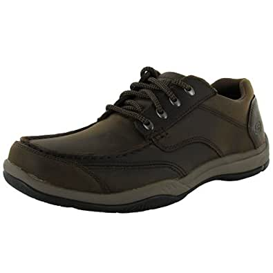Skechers Relaxed Fit Valko Welson Mens Lace Up Oxfords Shoes Dark Brown 10.5