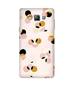 Multi Color Dots Samsung Galaxy A7 Printed Back Cover