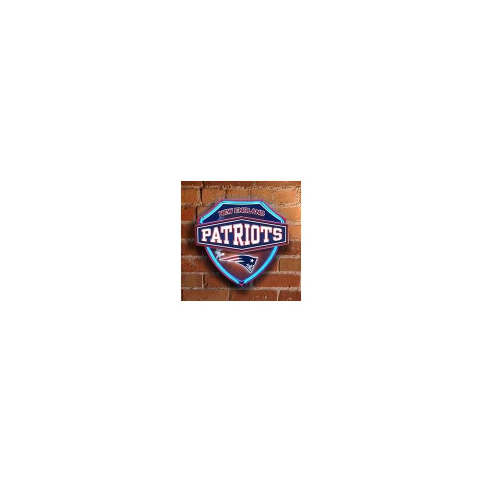 NEW ENGLAND PATRIOTS Team Logo Dual Lit NEON SHIELD WALL or WINDOW LAMP (15 Wide & 13 High)