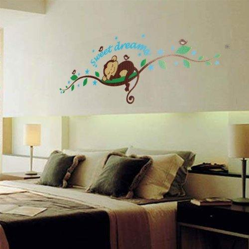 Wall sticker adesivo parete modello vine scimmia casa - Decorazione parete cameretta ...