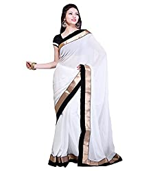 SRP Fashion Selection Women's Chiffon Saree (SRP-OF62, white)