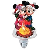 Disney Mickey and Minnie Mouse Christmas Campfire 7 Bubble Night Light