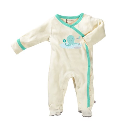 Babysoy Unisex Baby O Soy Footie - Octopus - 0-3 Months
