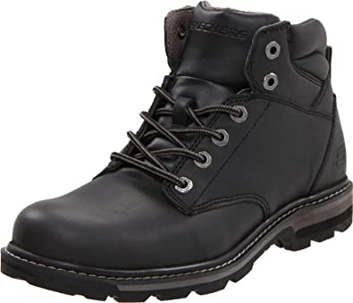 Skechers Men's Blaine Duston Lace-Up Boot,Black,10.5 M US