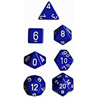 Polyhedral 7-Die Opaque Dice Set – Bl…