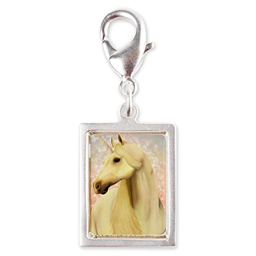 Silver Portrait Charm Real Unicorn Magic