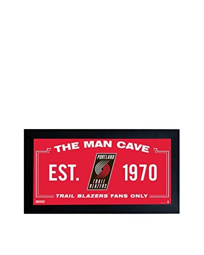 Steiner Sports Memorabilia Portland Trailblazers Man Cave Sign, Red, 10 x 20