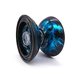 Stylezit Beast Fire YoYo Ball Smooth Spin Blue -Made With Dicast Metal